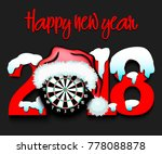 snowy new year numbers 2018 and ... | Shutterstock .eps vector #778088878