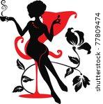 Elegant Silhouette Of Beautifu...