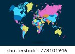 color world map vector | Shutterstock .eps vector #778101946