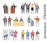 election candidates and voting... | Shutterstock .eps vector #778102498