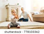 so tasty. adorable calm little... | Shutterstock . vector #778103362