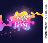 fashion poster night party in... | Shutterstock .eps vector #778103656