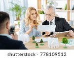 look here. clever skilled... | Shutterstock . vector #778109512