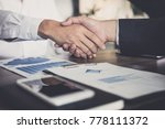 meeting and greeting concept ... | Shutterstock . vector #778111372