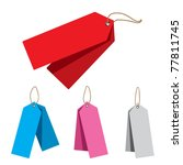 doubled price tags | Shutterstock .eps vector #77811745