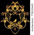 baroque composition with golden ... | Shutterstock . vector #778123645