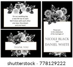 invitation with floral... | Shutterstock .eps vector #778129222