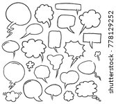 hand drawn speech bubbles in... | Shutterstock .eps vector #778129252