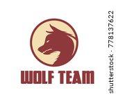 wolf logo design vector   Shutterstock .eps vector #778137622
