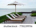 white color recliner beach... | Shutterstock . vector #778139956