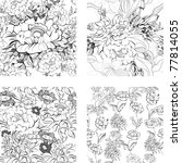 set of floral seamless pattern | Shutterstock .eps vector #77814055