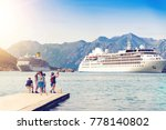 group of tourists in the port... | Shutterstock . vector #778140802