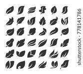 leaves icon vector set | Shutterstock .eps vector #778141786