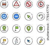 line vector icon set   sign... | Shutterstock .eps vector #778147792