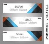 vector design banner background.   Shutterstock .eps vector #778151518