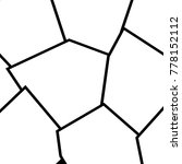 black and white irregular grid  ... | Shutterstock .eps vector #778152112