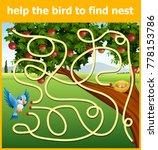 help the bird to find nest | Shutterstock .eps vector #778153786