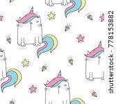 cute cat unicorn | Shutterstock .eps vector #778153882
