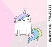cute cat unicorn | Shutterstock .eps vector #778153885
