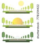 vector road set. highway  trees ...   Shutterstock .eps vector #778154422