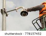 a male technician doing... | Shutterstock . vector #778157452