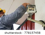 a male technician doing... | Shutterstock . vector #778157458