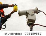 a male technician doing... | Shutterstock . vector #778159552