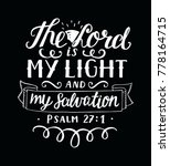 hand lettering the lord is my... | Shutterstock .eps vector #778164715