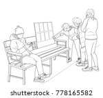 sketch of a group of...   Shutterstock .eps vector #778165582