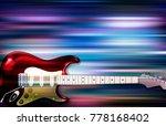 abstract blue white music...   Shutterstock .eps vector #778168402