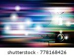 abstract blue white music... | Shutterstock .eps vector #778168426
