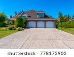 big custom made luxury house... | Shutterstock . vector #778172902