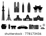 tokyo landmark building  ... | Shutterstock .eps vector #778173436