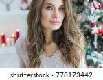 beautiful woman portrait | Shutterstock . vector #778173442