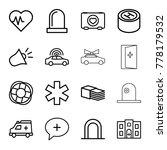 emergency icons. set of 16... | Shutterstock .eps vector #778179532