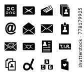 letter icons. set of 16... | Shutterstock .eps vector #778179925