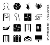 painting icons. set of 16... | Shutterstock .eps vector #778180486