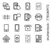 smart icons. set of 16 editable ... | Shutterstock .eps vector #778180972