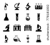 set of 16 lab filled icons such ... | Shutterstock .eps vector #778181002