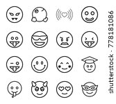 emotion icons. set of 16... | Shutterstock .eps vector #778181086