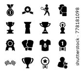 champion icons. set of 16... | Shutterstock .eps vector #778181098