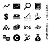 investment icons. set of 16... | Shutterstock .eps vector #778181356