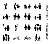 father icons. set of 16... | Shutterstock .eps vector #778181938