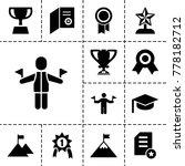 achievement icons. set of 13... | Shutterstock .eps vector #778182712
