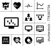 chart icons. set of 13 editable ... | Shutterstock .eps vector #778182736