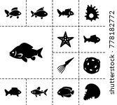 aquatic icons. set of 13... | Shutterstock .eps vector #778182772