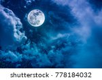 beautiful vivid cloudscape with ... | Shutterstock . vector #778184032