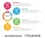 circle business infographic... | Shutterstock .eps vector #778184458