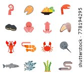 fish and seafood set design... | Shutterstock .eps vector #778194295