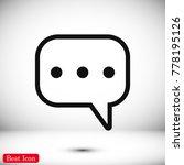 speech bubbles icon  stock... | Shutterstock .eps vector #778195126